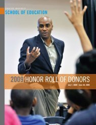 2009 Honor roll of Donors - School of Education - Syracuse University