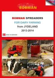 BOBMAN SPREADERS FOR DAIRY FARMING from ... - Moreway