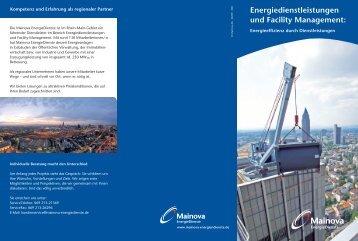 Energiedienstleistungen und Facility Management: - Mainova ...