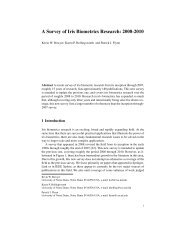 A Survey of Iris Biometrics Research: 2008-2010 - University of ...