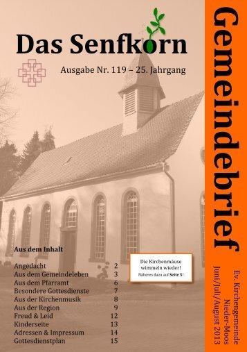 Gemeindebrief 2013-3 - Evangelische Kirchengemeinde Nieder-Moos