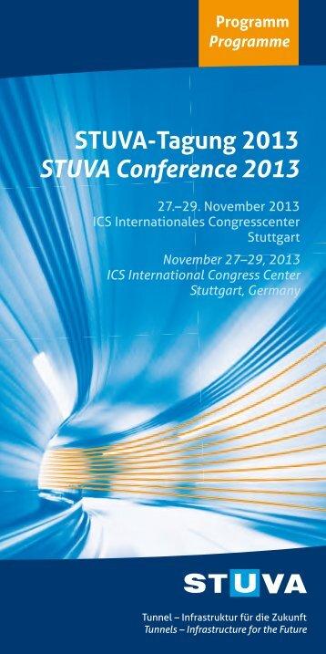 Programme - STUVA-Tagung 2013 - Studiengesellschaft für ...