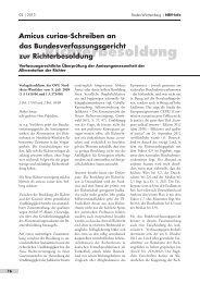 Amicus curiae-Schreiben an - Neue Richtervereinigung eV