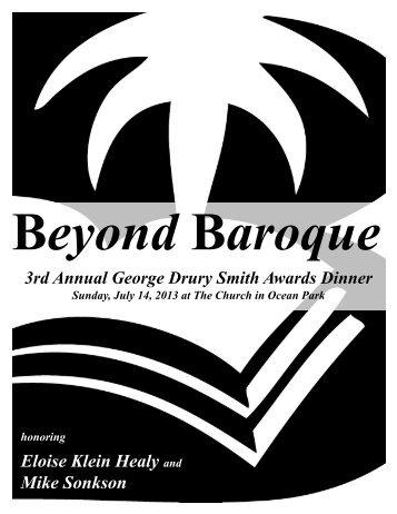 2013 Awards Program - Beyond Baroque