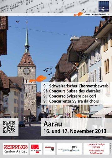 Programm Chorwettbewerb 2013 - Schweizer Radio und Fernsehen