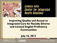 Improving Quality and Access to Integrated Care for Racially Diverse ...