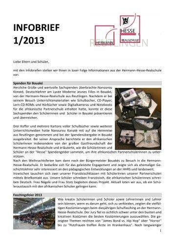 INFOBRIEF Ausgabe 1/2013 - Pironet NDH AG