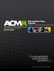 ACMR Prospectus - ACM Regional South Coast