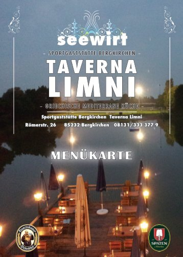 Unsere Speisekarte zum download - Taverna Limni