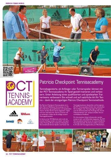 Patricio Checkpoint Tennisacademy » PDF zum ... - Patricio Travel