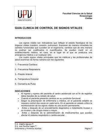 GUIA CLINICA DE CONTROL DE SIGNOS VITALES