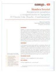 Siembra Forestal Recuperación Paisajística y ... - Universidad Libre
