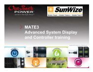 MATE3 Advanced System Display and Controller training - AEE Solar