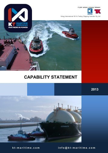 CAPABILITY STATEMENT - KT MARITIME
