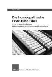 Homöopathie Fibel für die Erste Hilfe - Gisela Holle