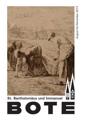 Liebe Gemeinde - Immanuelgemeinde