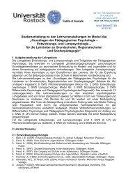 Modul 6a - Institut für Pädagogische Psychologie