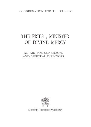 the priest, minister of divine mercy - Congregation for the Clergy