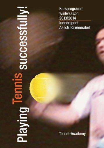 Angebot Winter 2013/2014 - bei Tennis-Academy