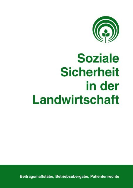 SdL 2/2013 - Sozialversicherung für Landwirtschaft, Forsten und ...