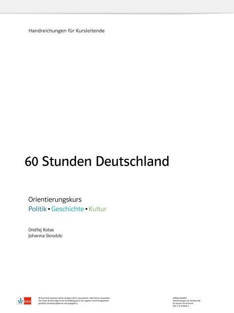 60 Stunden Deutschland Ernst Klett Verlag