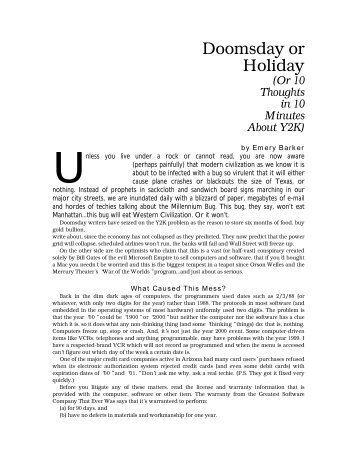 Doomsday or Holiday - Lawyers