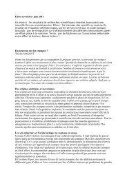 Edito newsletter juin 2011 Du nouveau sur les crampes ? Thierry ...