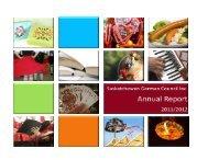 2011-2012 Annual Report - Saskatchewan German Council