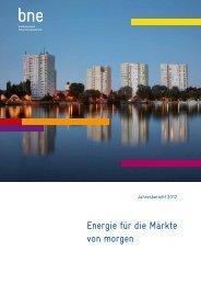 Der bne-Jahresbericht 2012 zum Download - Bundesverband ...