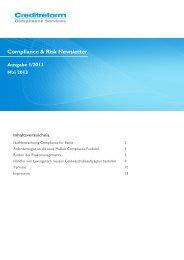 Compliance & Risk Newsletter - Creditreform Compliance Service