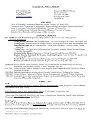 Curriculum Vitae - COAS - Howard University