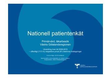 Nationell patientenkät primärvård höst 2010, offentlig privat - Västra ...