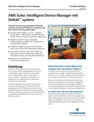 AMS Suite: Intelligent Device Manager mit DeltaV™ system