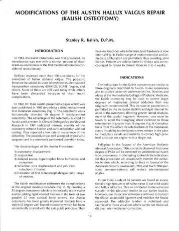 (KArrsH osTEoToMY) - The Podiatry Institute