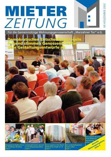 UNITED SPACE PARADE 2002 - Wohnungsgenossenschaft ...