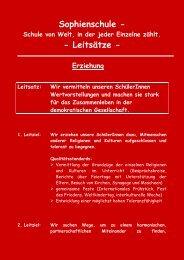 Sophienschule ‐ ‐ Leitsätze ‐ - Sophienschule Hof
