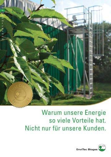 Biogas Broschüre - EnviTec Biogas AG