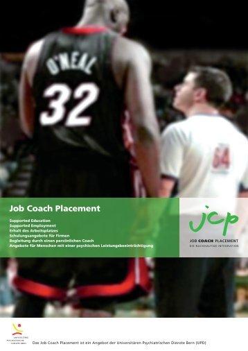 Broschüre Job Coach Placement - UPD - Kanton Bern