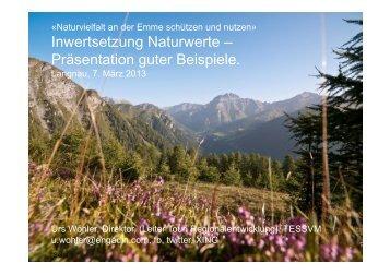 Präsentation von Urs Wohler, Direktor Engadin Scuol Samnaun ...