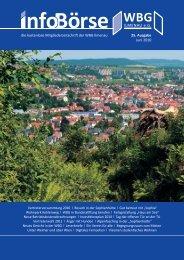 Die Kostenlose Mitgliederzeitschrift Der WBG Ilmenau 25. Ausgabe