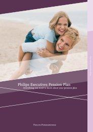 Brochure 'Philips Executives Pension Plan' - Philips Pensioenfonds