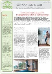 VfW aktuell - Ausgabe Dez. 2010 - Pdf-Format - ENEV-Online.de