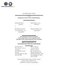 Palm Beach County Motion Opposing Bush Petition