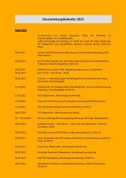 Veranstaltungskalender 2013