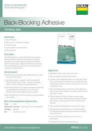 Back-Blocking Adhesive - Boral