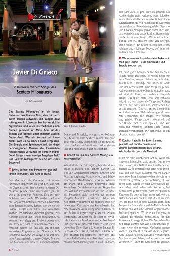 Javier Di Ciriaco - Ute Neumaier