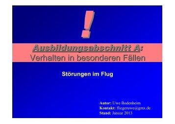 Ausbildungsabschnitt A: Verhalten in besonderen Fällen - SFG ...
