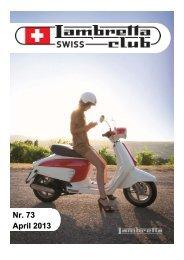 Nr. 73 April 2013 - im Swiss Lambretta Club