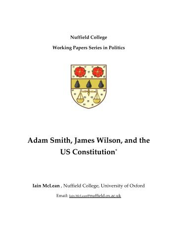 Iain McLean, Adam Smith, James Wilson, and the ... - Nuffield College