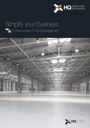 HQ Simplified Business Projektmanagement-Broschüre - HQLabs